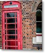 British Phone Box Metal Print