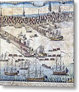 British Ships Of War, Landing Troops Metal Print
