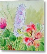 British Wild Flowers Metal Print
