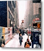 Broadway And 42nd Street 1985 Metal Print