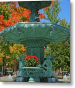 Broadway Fountain II Metal Print by Steven Ainsworth