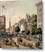 Broadway In The Nineteenth Century Metal Print