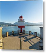 Brockton Point Lighthouse At Stanley Park Metal Print