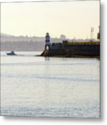 Brockton Point Lighthouse On Peninsula At Stanley Park Metal Print