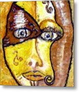 Broken - A Mask Metal Print