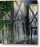 Broken Barn Door Metal Print by Joyce Kimble Smith