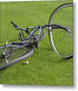 Broken Bicycle Metal Print