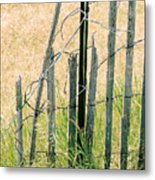 Broken Fence Metal Print