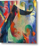 Broken Forms By Franz Marc Modern Bright Colored Painting  Metal Print