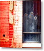 Broken Glass Like Flowers Metal Print