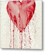 Broken Heart - Bleeding Heart Metal Print