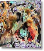 Broken Hearted Purple Crazy Man Blues Metal Print