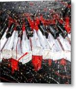 Broken Keys Red Metal Print