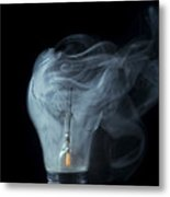 Broken Light Bulb Metal Print