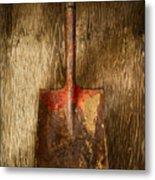 Tools On Wood 2 Metal Print