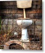 Broken Toilet Metal Print