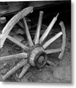 Broken Wheel Metal Print