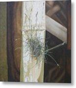 Bromeliad And Bamboo Metal Print