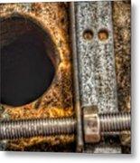 Bromo Seltzer Tower's 1911 Seth Thomas Clock Mechanism Abstract #11 Metal Print