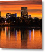 Broncos Sunrise Metal Print