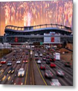 Broncos Win Afc Championship Game 2016 Metal Print