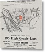 Bronx 1907 Realtor Flyer Metal Print