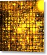 Bronze Solar Cubes Metal Print