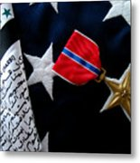 Bronze Star Metal Print