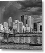Brooding Above The Burgh Metal Print by Jennifer Grover