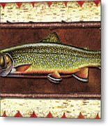Brook Trout Lodge Metal Print