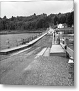Brookfield, Vt - Floating Bridge 5 Bw Metal Print