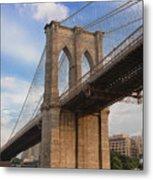 Brooklyn Bridge - Eastbound Metal Print