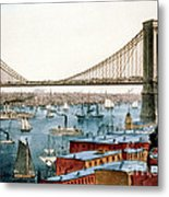 Brooklyn Bridge, 1872 Metal Print