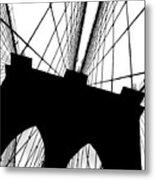 Brooklyn Bridge Architectural View Metal Print
