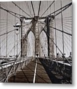 Brooklyn Bridge By Art Farrar Photographs, Ny 1930 Metal Print