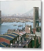 Brooklyn Bridge Circa 1904 Metal Print