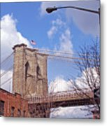 Brooklyn Bridge From Doughty Street Metal Print