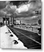 Brooklyn Bridge Metal Print by Luca Baldassari