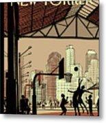 Brooklyn Bridge Park Metal Print