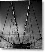 Brooklyn Bridge - Spider's Web Metal Print