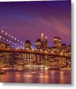 Brooklyn Bridge Sunset - Panorama Metal Print