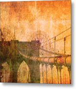 Brooklyn Bridge Vintage Metal Print