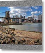 Brooklyn Bridge...triptych Metal Print