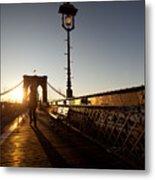 Brooklyn Brige Sunset Metal Print