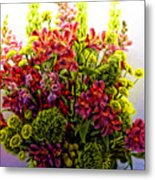 Brooklyn Sidewalk Flower Sale Metal Print