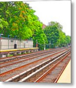 Brooklyn Subway Train Station 1 Metal Print
