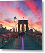 Brooklyn Sunset Metal Print