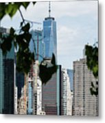 Brooklyn View Of One World Trade Center  Metal Print