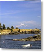 Brooks Point With Mt. Baker Metal Print