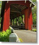 Brookwood Covered Bridge Metal Print
